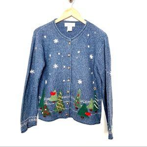 Susan Bristol Embroidered Cardigan Sweater